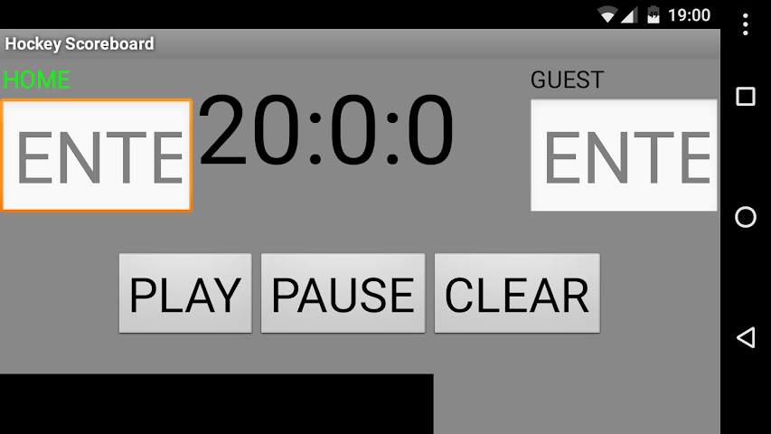 android Hockey Scoreboard Screenshot 1