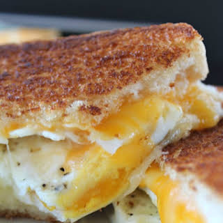 Fried Egg Grilled Cheese Sandwich.
