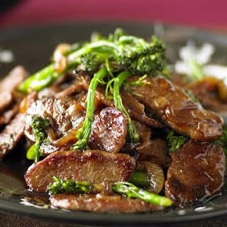 Mongolian Lamb with Broccoli.