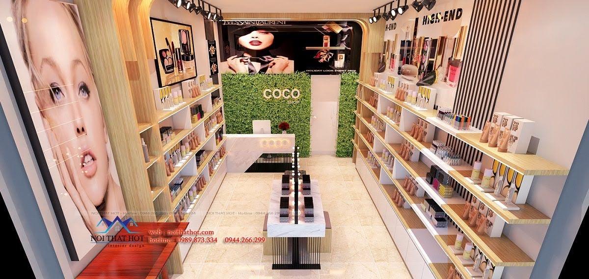 thiết kế shop mỹ phẩm coco 2