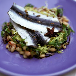 Herring Fillets with Bean Salad.