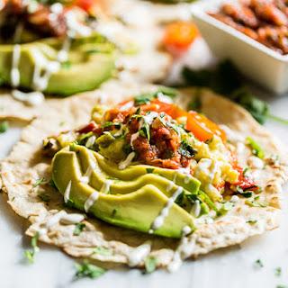 Roasted Poblano Breakfast Tacos.