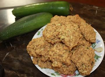 Oatmeal Zucchini Cookies with Chocolate Chips