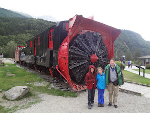 Photo: The snowblower for the train