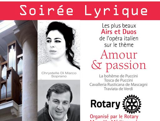 Soirée lyrique organisée par le Rotary jeudi 12 février 2015 au profit de L'Arche à Marseille