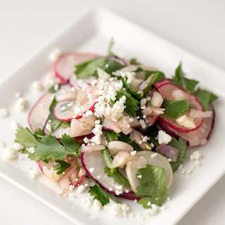 Radish Cilantro Salad with Goat Cheese