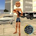 Super Thing Stickman Rope Hero - Rock Monster Gang icon