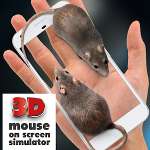 Mouse on Screen Scary Joke Icon