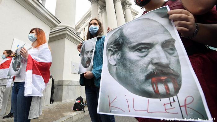 Акція протесту проти Олександра Лукашенка в Києві