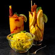 Three Mango Amigos (Mangonada OG, Mango Fruta Picada, Skinny Mango Salad)