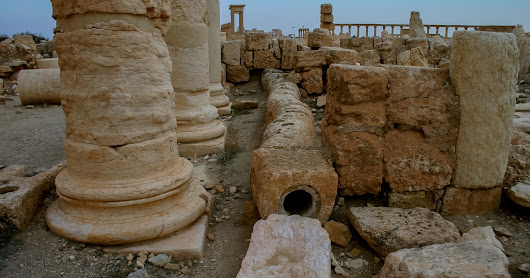 Syria - Water Piping in Palmyra