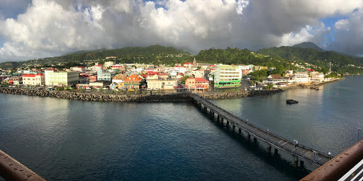 roseau-dominica-panorama.jpg - The port and waterfront of Roseau, Dominica, taken with an iPhone 7's panorama filter.