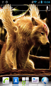 Winged wolf live wallpaper screenshot 2