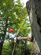 Photo: Rappelling at High Rock Camp Toccoa