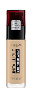 Base liquida Loreal   Paris Infallible Fresh Wear 125 Naturel Rose x 30Ml