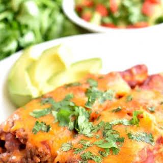 Gluten-Free Beef and Cheese Enchiladas.