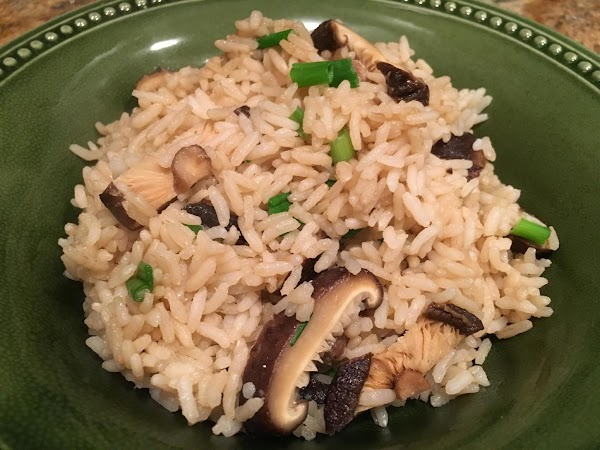 Shiitake Rice With Green Onions Recipe