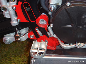 Photo: 2012 Gas Gas Enduro EC 250 300 tucked in brake pedal www.motomerlin.org.uk