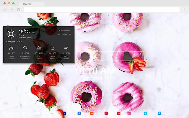 Donuts Popular Food HD New Tabs Themes