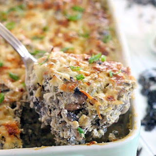 Wild Rice and Mushroom Casserole.