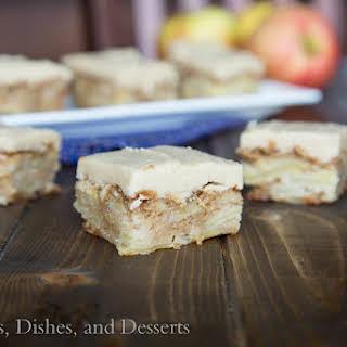 Apple Blondies w/ Cinnamon Brown Sugar Frosting.