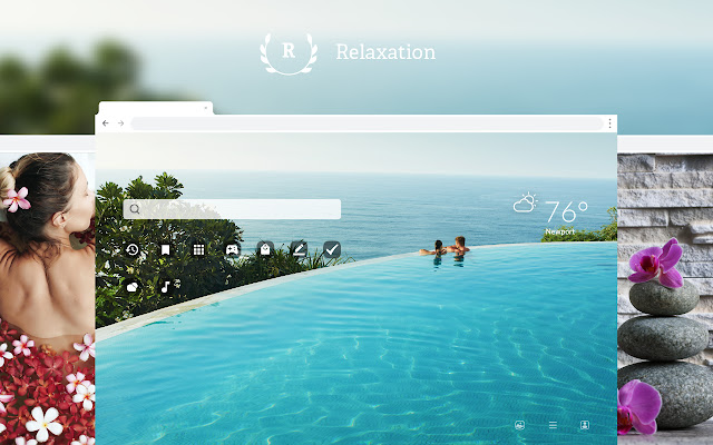 Relaxation HD Wallpaper New Tab Theme