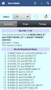 Honolulu Transit Info screenshot 2