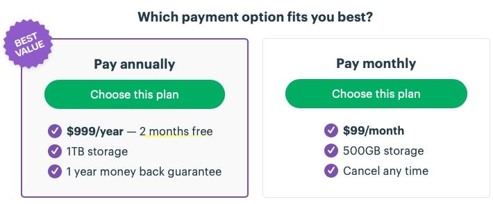 Basecamp pricing plan