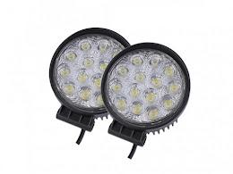 Set 2 proiectoare LED BAR, OFF ROAD, rotund, 14 LED, 42 W
