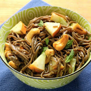 Soba (buckwheat) Noodles With Cucumber, Lime And Mint.