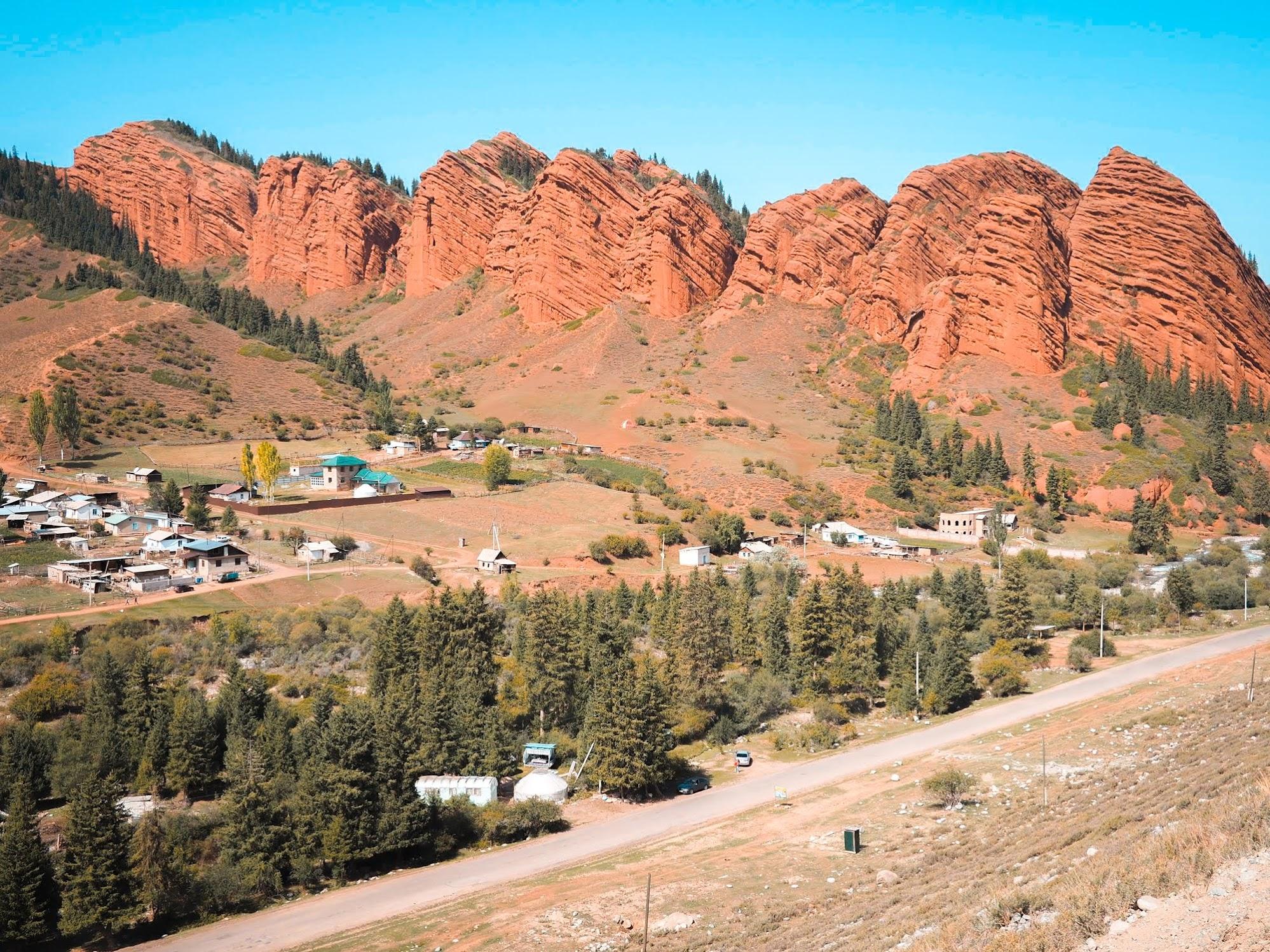 Jety Orguz near Karakol, Kyrgyzstan