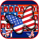 Us Flag Butterfly Keyboard Theme Download on Windows