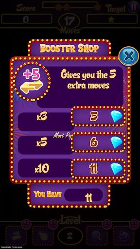 Firezilla - Match 3 Sweet Candy Jewels screenshot 5