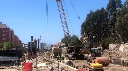 Obras del soterramiento a su paso por El Puche