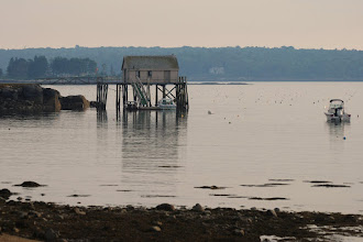 Photo: Private wharf on Pemaquid Harbor
