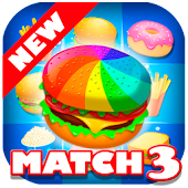 Match 3 Burger: Delicious Food