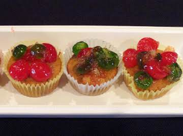 Miniature Fruitcake Cupcakes