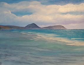 """Photo: Seascape oil painting. Finished by one class 11 x 14"""". 2012 - 3"""