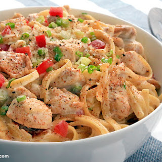 One Pan Cajun Chicken Alfredo