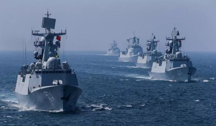 China's navy on the move. Picture: REUTERS