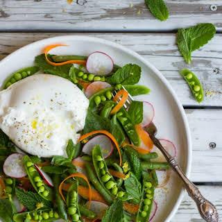 Spring Veggie & Burrata Salad.