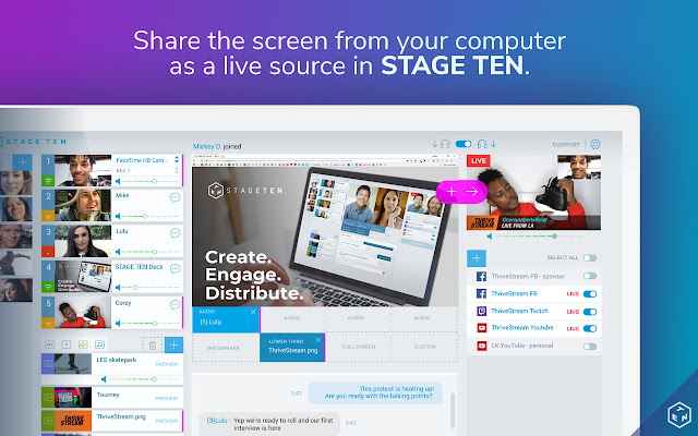 STAGE TEN Screen Sharing