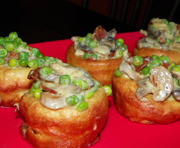Peas With Mushrooms, Bacon & Cream