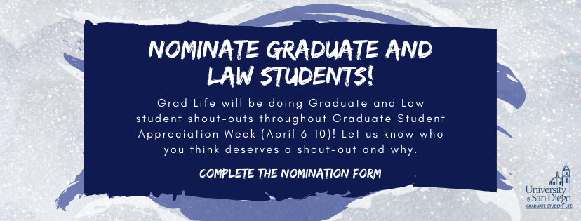 Nominate your friends for a Graduate Student Appreciation Week shout-out