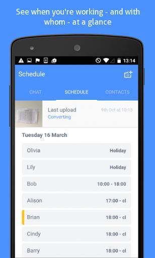 Yavi - Mobile Work Schedule