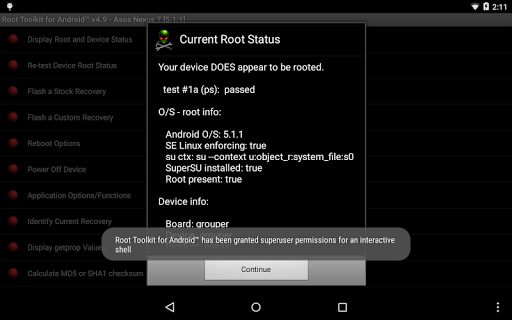 Root Toolkit for Android™ 5.0 screenshots 11