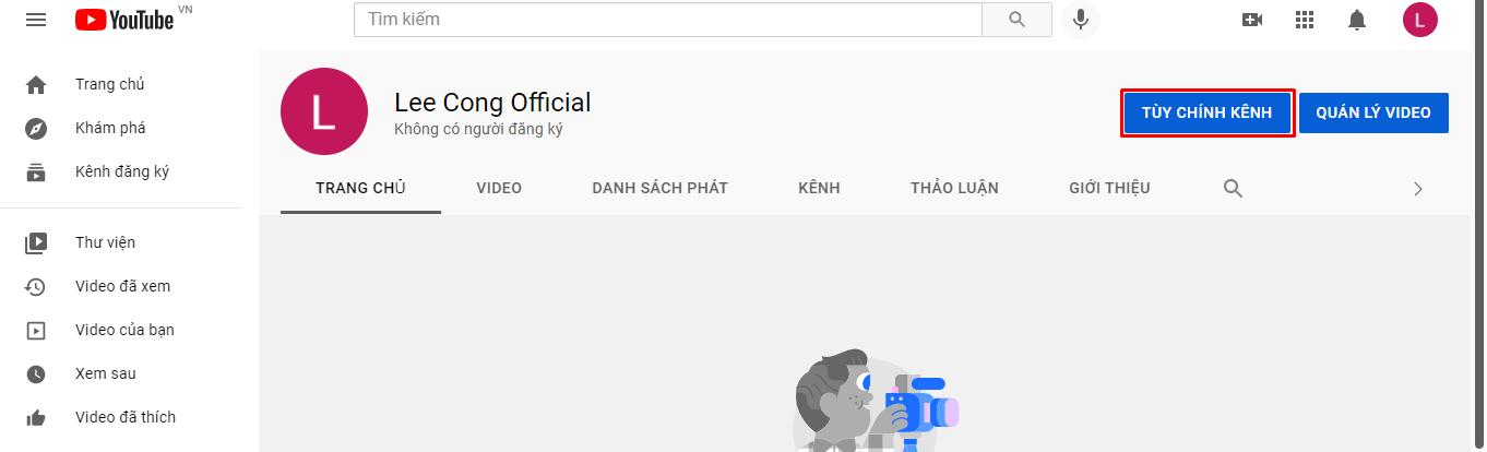Hướng dẫn thiết lập Youtube (1)