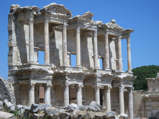 library-of-ephesus-side-view.jpg - The Library of Ephesus near Kusadasi, Turkey.