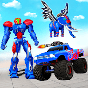 Elephant Robot Transform Monster Truck Robot Games