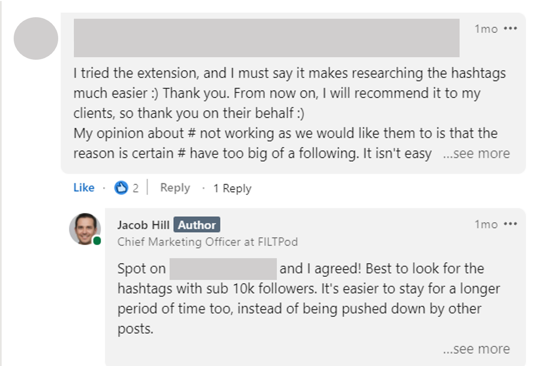Replying to Comments on LinkedIn